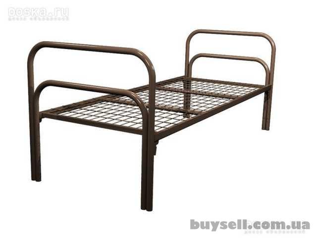 Трёхъярусные металлические кровати для общежитий,  кровати дёшево изображение 3