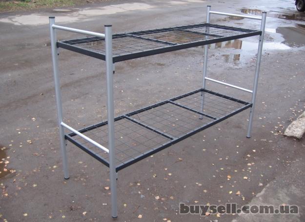 Трёхъярусные металлические кровати для общежитий,  кровати дёшево изображение 5