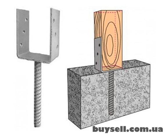 Опора колонны | консоль колонны | основание столба тип U изображение 3