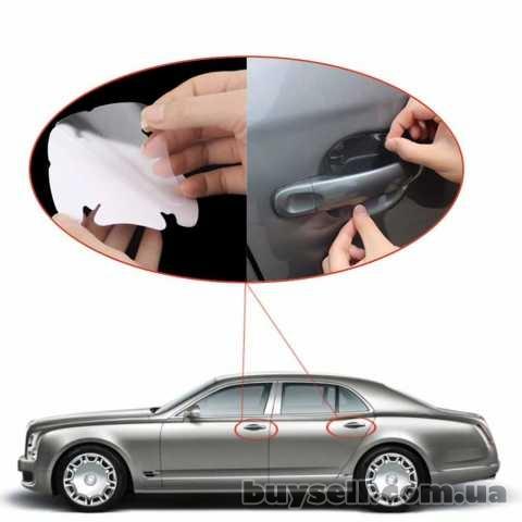 Наклейки для защиты зон под ручками авто от царапин и сколов изображение 5