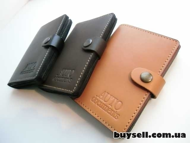 Бумажник для водительских документов (натуральная кожа) изображение 4
