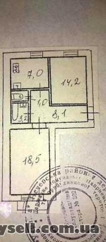 Без комісії продам 2 кімнатну 52м,  Кловський узвіз 10,  м. Кловська изображение 2