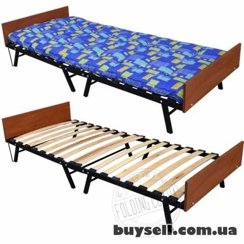 Кровать Раскладушка на Ламелях с Матрасом В Наличии Доставка  Сегодня изображение 3