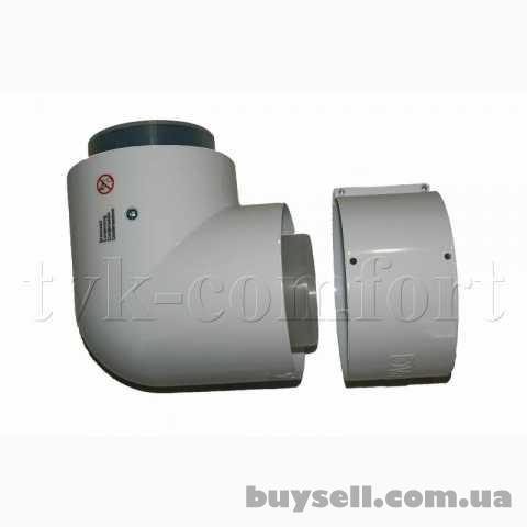 Отвод коаксиальный 87* 80/125мм.    Vaillant арт.    303210 из ППР