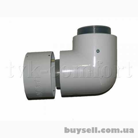 Отвод коаксиальный 87* 80/125мм.    Vaillant арт.    303210 из ППР изображение 3