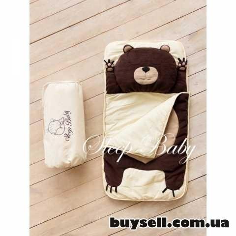 Спальный плед-конверт Мишка для детей (есть размеры) изображение 2