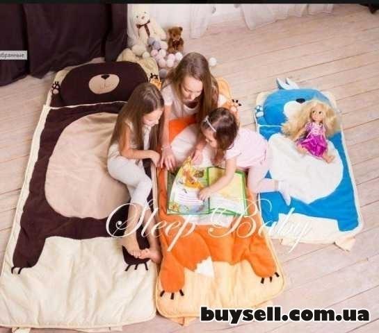 Спальный плед-конверт Мишка для детей (есть размеры) изображение 5