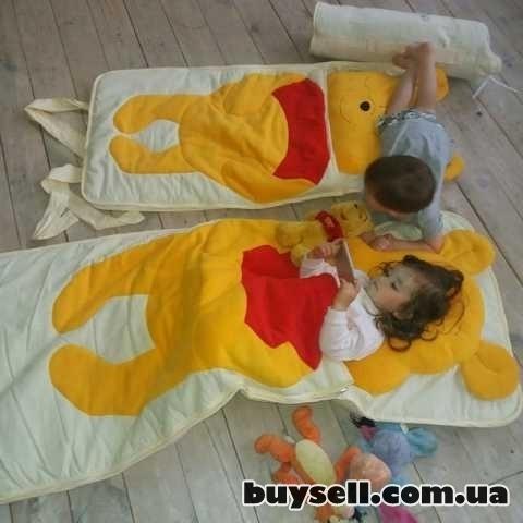 Спальный плед-конверт Винни-Пух детям (размеры любые) изображение 4