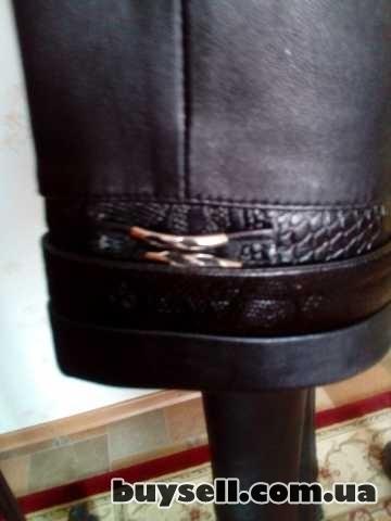 Продаётся кожаный плащ пальто изображение 4