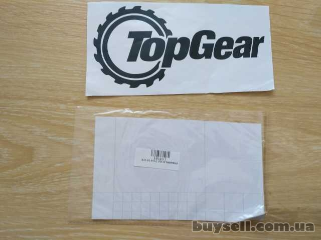 Наклейка на автомобиль Top Gear Черная изображение 2