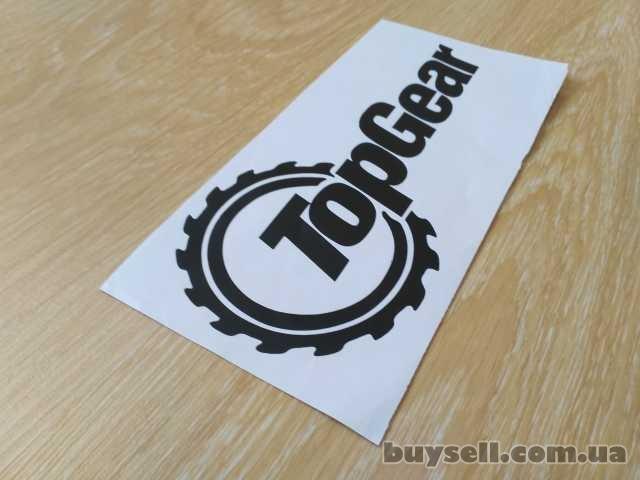 Наклейка на автомобиль Top Gear Черная изображение 3