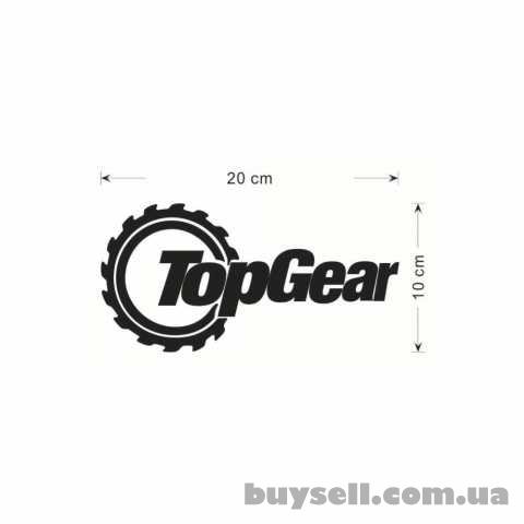 Наклейка на автомобиль Top Gear Черная изображение 4
