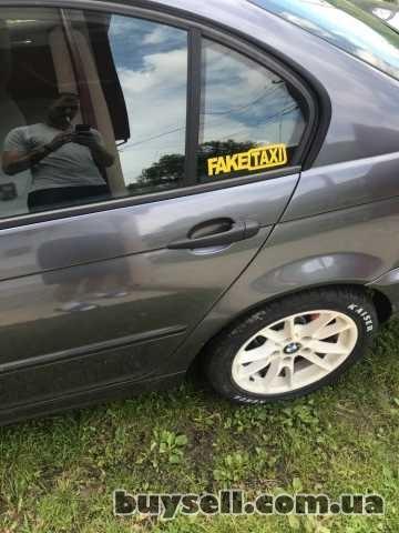 Наклейка на авто FakeTaxi Белая,  Желтая светоотражающая Тюнинг авто изображение 2