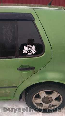 Наклейка на авто VIP Белая светоотражающая Тюнинг изображение 2
