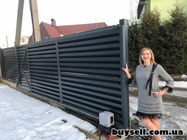 Ворота жалюзі. Вуличні відкатні ворота у Тернополі