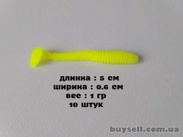 Твистера 10 шт мягкий силикон 5 см. 1 грамм
