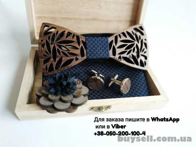 Запонки деревянная бабочка галстук платок 3д брошь набор в деревянной