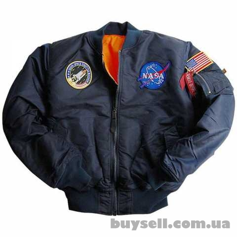 Куртка Youth NASA MA-1 Flight Jacket Alpha Industries (синяя)