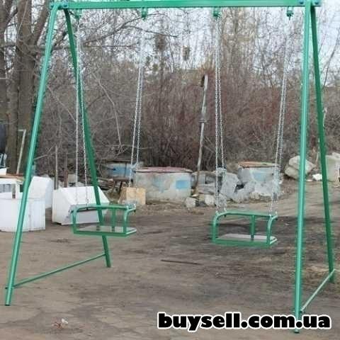 Детские качели двухместные на цепях,  для всей семьи.