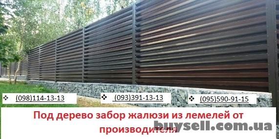 Под дерево забор жалюзи из ламелей от производителя изображение 3