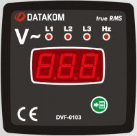 DATAKOM DVF-0103 цифровой трехфазный вольтметр-частотомер