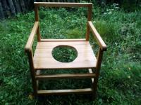 Переносной удобный туалетный стульчик (горшок)