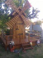 Мельница  декоративная из дерева