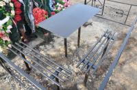 """Лавочки и столы мет.  на кладбище,  """"Броневик"""" Днепропетровс"""