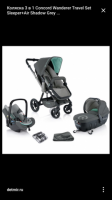 Коляска 3 в 1 Concord Wanderer Travel Set Sleeper+Air Shadow Grey
