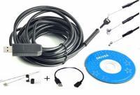 USB видеокамера, зндоскоп, бороскоп, 2м,д.5,5 мм +зеркало, OTGкабель