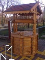 Домик для Колодца ,     криниця  з дерева .