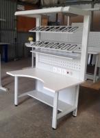 Столы для мастера по пошиву и ремонту обуви, стеллажи для колодок или