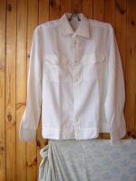 Форменная рубашка новая,  с длинным рукавом, белая.