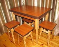 Кухонный Раскладной Стол + 4 Стула Каркас с Ясена Доставка Сегодня !