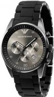 Emporio Armani AAA Brown-Silver Silicone часы класа люкс ААА