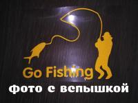 Наклейка На рыбалку Желтая светоотражающая Тюнинг, Борисполь, 50 грн