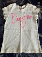 очень красивая белая футболка benetton примерно на 7 лет, Харьков, 75 грн