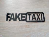 Наклейка на авто FakeTaxi Черная, Борисполь, 55 грн