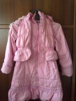 Пальто с жилеткой.  р. - 40 + 3 подарка