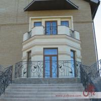 Кованое ограждение для террасы,  кованый балкон,  кованые перила