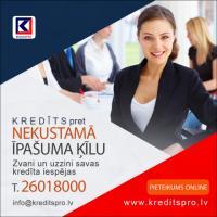 Kredīts pret nekustamā īpašuma ķīlu.  Kredits pro