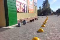 Полусфера бетонная.  Парковачный барьер.